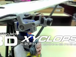 XL-RCP 16.0 XYCLOPS : Cockpit camera pan-tilt for 808 #16 HD cam