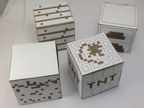 Minecraft cardstock laser cut blocks