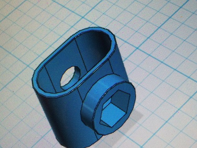 & Hex Tube Cap for Quik Shade canopy by cbolton911 - Thingiverse