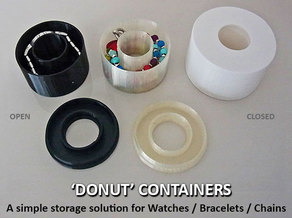 'Donut' Watch / Bracelet / Chain Container
