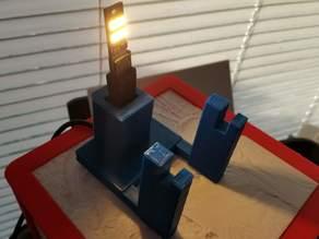 Single Lithophane Stand - USB Thumb LED Array version