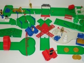 GOLF-IN-MINIATURE : The Desktop 18 Hole Miniature Golf Course