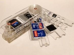 Swivel memory card holder