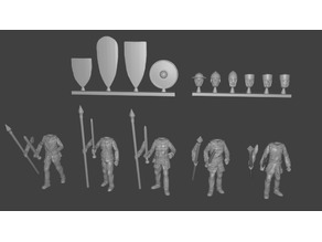 Men-at-arms Miniatures Customizable