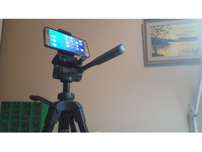 Cellphone Holder for Tripod Mounting - Spring Loaded