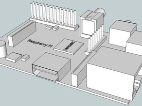 Raspberry Pi Sketchup model to scale