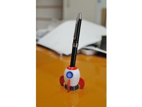 Rocket Ship Pen Stand