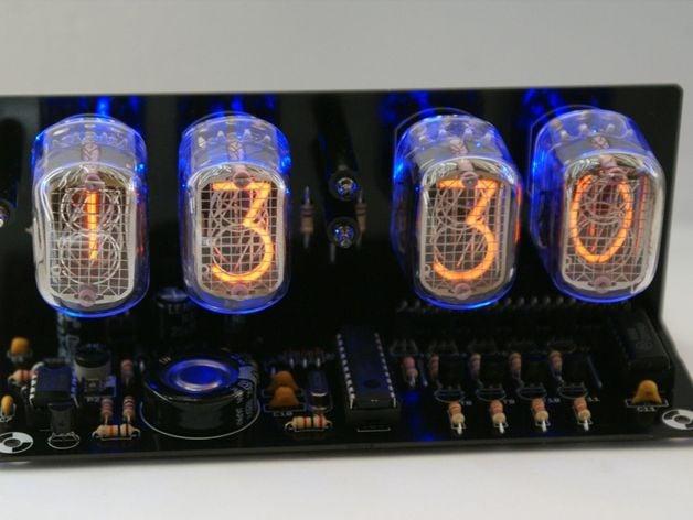 Ebay Nixie Tube Clock kit with IN-12 LED Alarm 3d Printed