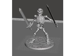 28mm Skeleton Warrior Berserk with Swords Akimbo