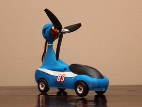 Pinewood Derby Car - Prop Powered