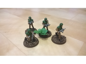 28mm soldiers with grenade throwers