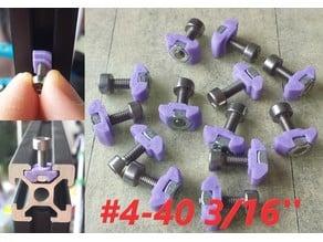 T-nut #4-40 x 3/16'' rotating V-Slot