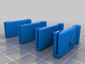 Printrbot Micro SD Card Holder 4 Pack with Numbers