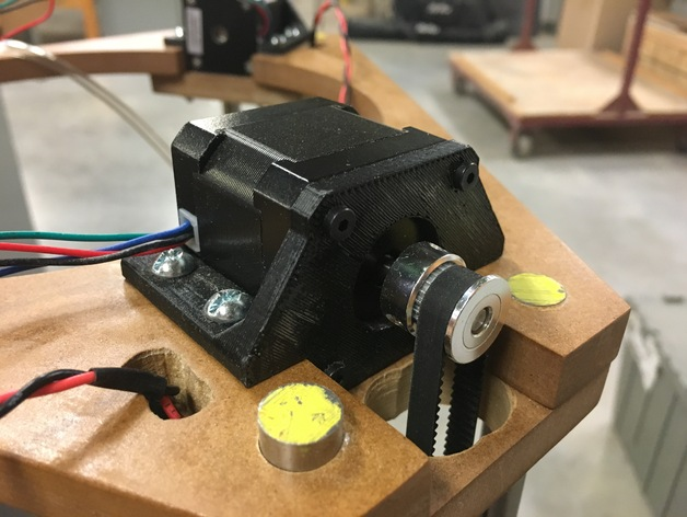 Nema 17 Stepper Motor Mounts For Delta Printer By