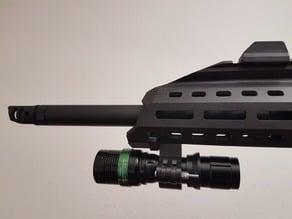 Flashlight holder for Evo 3 A1 Scorpion airsoft replica