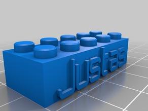 Justas Lego Block Necklace/Keychain