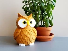 Multi-Color Owl Jar