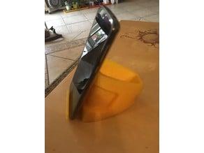 Helmet desktop phone stand