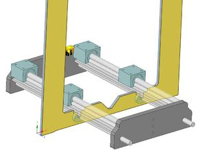 Y-Carriage supported Linear rail upgrade for Geeetech printers