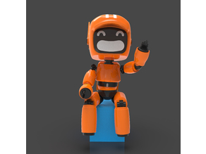 LD&R orange robot V1 | Semi pose-able