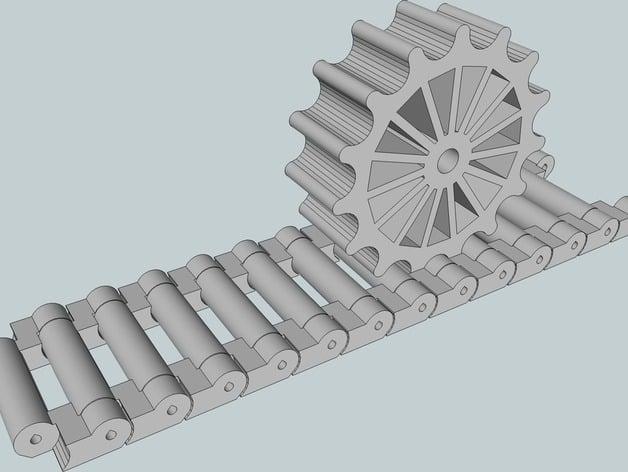 Tank Tracks Design With Engine