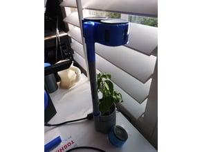 LED Solar light hood for planter
