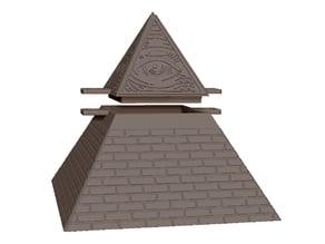 Lockable Illuminati pyramid box