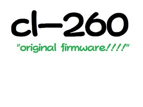 cl-260 standard firmware (outdated!)