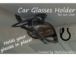 Car Glasses Holder (Notch held)