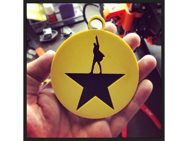 Hamilton Christmas Ornament.Hamilton Christmas Ornament By Hijinksensue Thingiverse