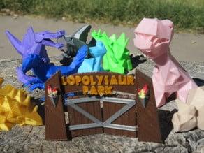 Lowpolysaurus Park Gates