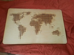 LaserCut World Map