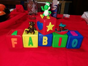 baby name cubes (ornament)