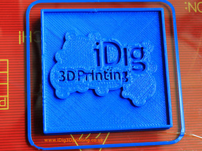 iDig3Dprinting test plaque