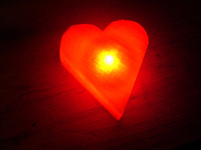 Printed LED Heart