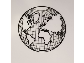 2D Art Earth Globe
