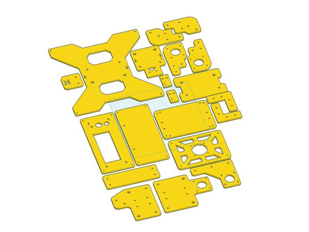 Tevo Tarantula Stock Acrylic Parts Oem Brackets All Of Them By