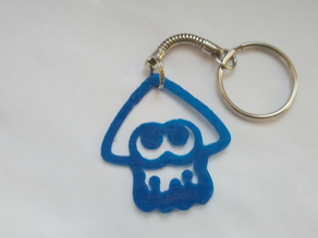 Splatoon squid keychain