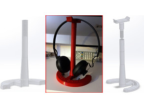 Thingiverse logo, Head Phones Stand