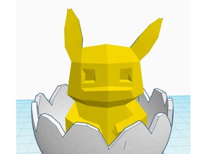 Low-Poly Pikachu Hatching