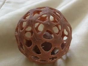 Mesh ball with captive sphere