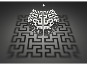 Hilbert curve stereographic projection
