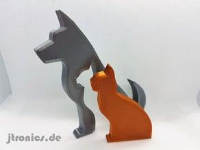 Animal Silhouette - Dog Cat