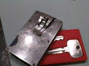 Wallet Spare Key Holder - Credit Card Sized