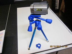 Tripod head with longer knob handle and straight header_1