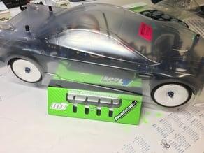 1:10 Touring Car TC tire template, Schablone Radausschnitte,Lexan