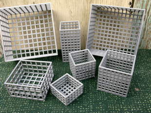 Containers Composed of Squares