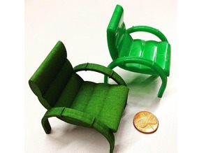 Lawn Chair With Solid Cylinders
