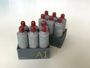 Gas bottles - Scatter for 32 mm tabletop