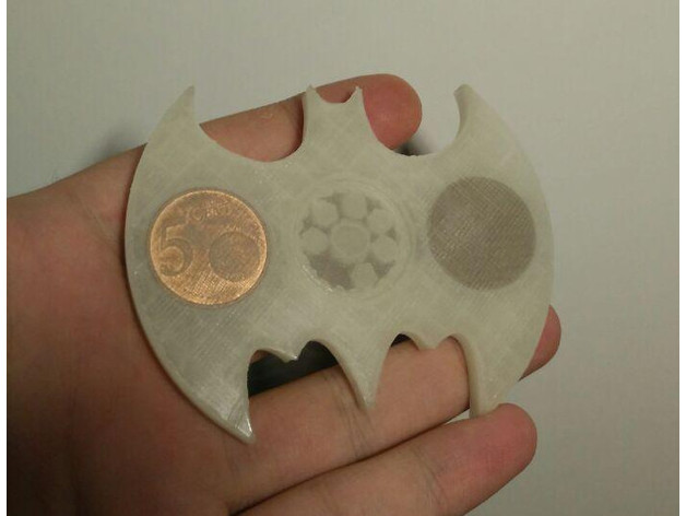 Batman Fidget Spinner Toy Eu Us Uk Coins By Ford Thingiverse